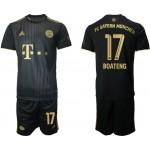 21-22 FC Bayern Munchen #17 Jerome Boateng Black Away Soccer Jersey