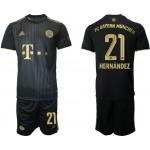 21-22 FC Bayern Munchen #21 Lucas Hernandez Black Away Soccer Jersey