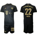 21-22 FC Bayern Munchen #22 Marc Roca Black Away Soccer Jersey