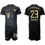 21-22 FC Bayern Munchen #23 Tanguy Nianzou Black Away Soccer Jersey