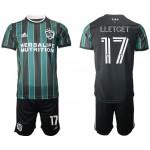 21-22 Los Angeles Galaxy #17 Lletget Green-Black Away soccer jersey