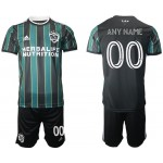 21-22 Los Angeles Galaxy Any Name Green-Black Away soccer jersey(Name and number remark in comment column)