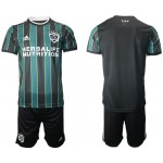 21-22 Los Angeles Galaxy Blank Green-Black Away soccer jersey