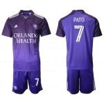 2021-22 Orlando City SC #7 Pato Home Purple Soccer Jersey