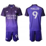 2021-22 Orlando City SC #9 Mueller Home Purple Soccer Jersey