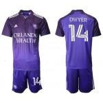 2021-22 Orlando City SC #14 Dwyer Home Purple Soccer Jersey