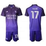 2021-22 Orlando City SC #17 Nani Home Purple Soccer Jersey