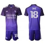 2021-22 Orlando City SC #18 Dike Home Purple Soccer Jersey