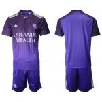 2021-22 Orlando City SC Blank Home Purple Soccer Jersey