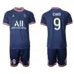 21-22 Paris Saint-Germain F.C #9 Mauro Icardi Navy Home Soccer Jersey