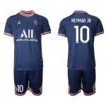 21-22 Paris Saint-Germain F.C #10 Neymar Jr. Navy Home Soccer Jersey