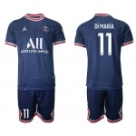 21-22 Paris Saint-Germain F.C #11 Angel Di Maria Navy Home Soccer Jersey