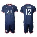 21-22 Paris Saint-Germain F.C #12 Rafinha  Navy Home Soccer Jersey
