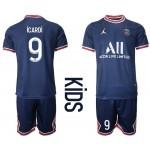 21-22 Youth Paris Saint-Germain F.C #9 Mauro Icardi Navy Home Soccer Jersey