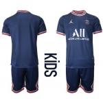 21-22 Youth Paris Saint-Germain F.C Blank Navy Home Soccer Jersey
