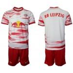 2021-22 RB Leipzig Blank Home White Soccer Jersey