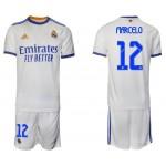 21-22 Real Madrid #12 Marcelo White Home Soccer