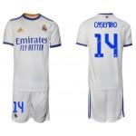 21-22 Real Madrid #14 Casemiro White Home Soccer