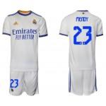 21-22 Real Madrid #23 Ferland Mendy White Home Soccer