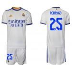21-22 Real Madrid #25 Rodrygo White Home Soccer
