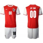 2020 European Cup Austria Any Name Custom Red Home Jersey