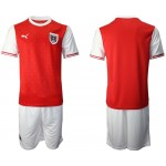 2020 European Cup Austria Blank Red Home Jersey