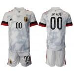 2020-21 European Cup Belgium Any Name Gray Jersey