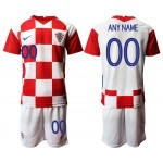 2020 European Cup Croatia Any Name white Jersey