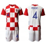 2020 European Cup Croatia Perisic #4 white Jersey