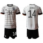 2020 European Cup Germany Schulz #14 white home Jersey