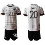 2020 European Cup Germany Gnabry #20 white home Jersey