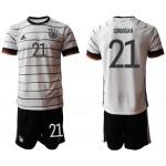 2020 European Cup Germany Gundogan #21 white home Jersey