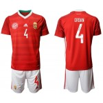 2020 European Cup Hungary Orban #4 Red Jersey