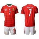 2020 European Cup Hungary Dzsudzsak #7 Red Jersey