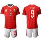 2020 European Cup Hungary Szalai #9 Red Jersey