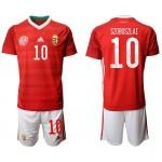 2020 European Cup HungarySzoboszlai #10 Red Jersey
