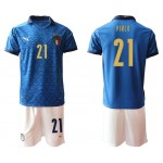 2020 European Cup Italy Pirlo #21 Blue Jersey