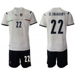 2020-21 European Cup Italy El Shaarawy #22 White Away Jersey