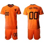 2020 European Cup Netherlands Any Name Custom Orange Home Jersey