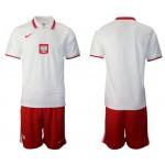 20-21 European Cup Poland White Home Jersey