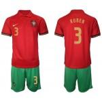 2020 European Cup Portugal #3 Ruben Semedo Red Home Jersey