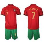 2020 European Cup Portugal #7 Cristiano Ronaldo Red Home Jersey