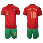 2020 European Cup Portugal #10 Bernardo Silva Red Home Jersey