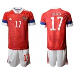 2020 European Cup Russia Golovin #17 Red home Jersey
