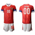 2020 European Cup Russia Any Name Red home Jersey