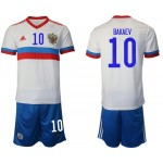 2020 European Cup Russia Bakaev #10 White Away Jersey