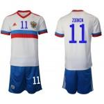2020 European Cup Russia Zobnin #11 White Away Jersey