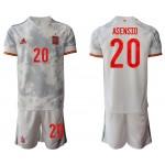 2020-21 European Cup Spain Asensio #20 Gray Away Jersey