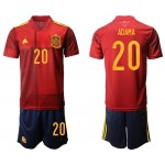 2020 European Cup Spain Adama #20 Red Home Jersey