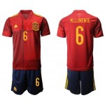 2020 European Cup Spain M.LLORENTE #6 Red Home Jersey